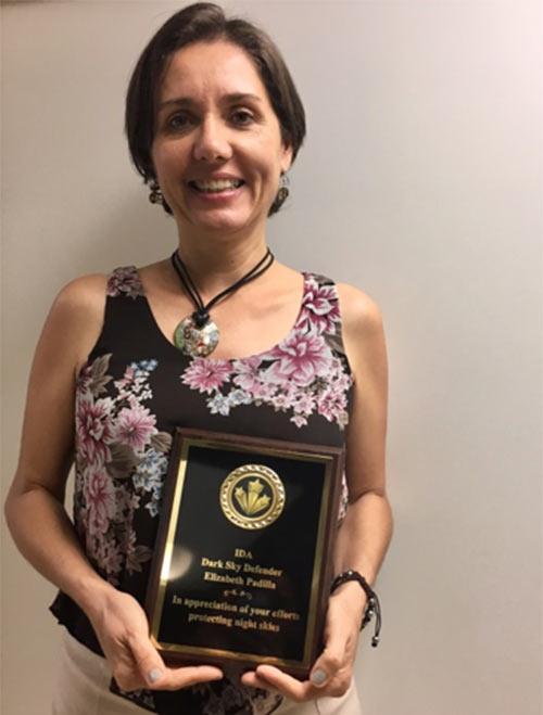 Elizabeth Padilla Dark Sky Defender Award