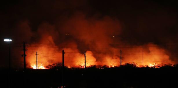 fuego en el Campamento Santiago