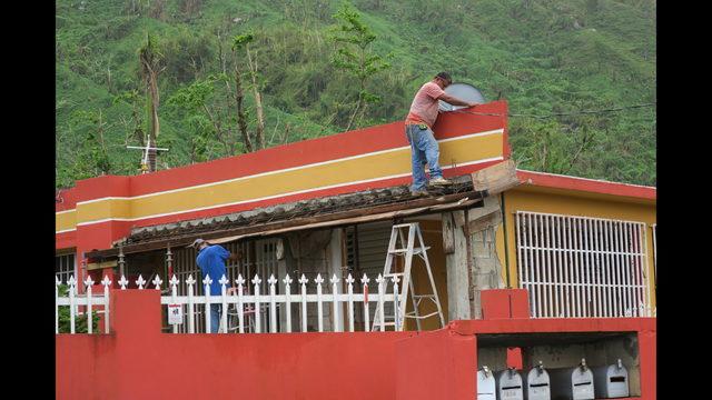 tejado de una vivienda afectada