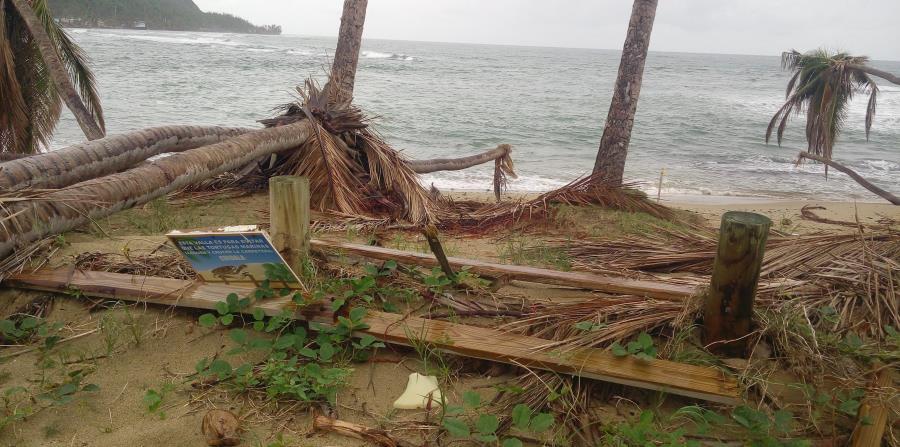 playas afectadas huracan