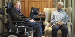 Stephen Hawking y Nelson Mandela