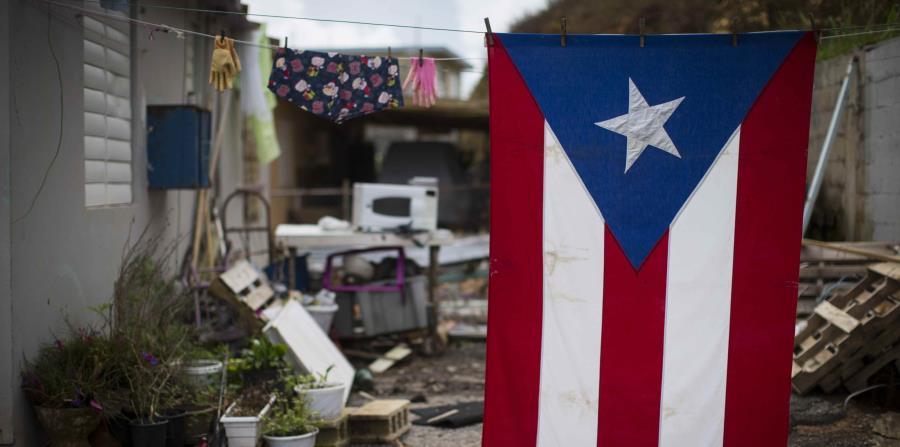 bandera Puerto Rico lavada en tendero