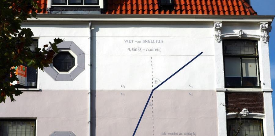 fachada edificio en Leiden Holanda