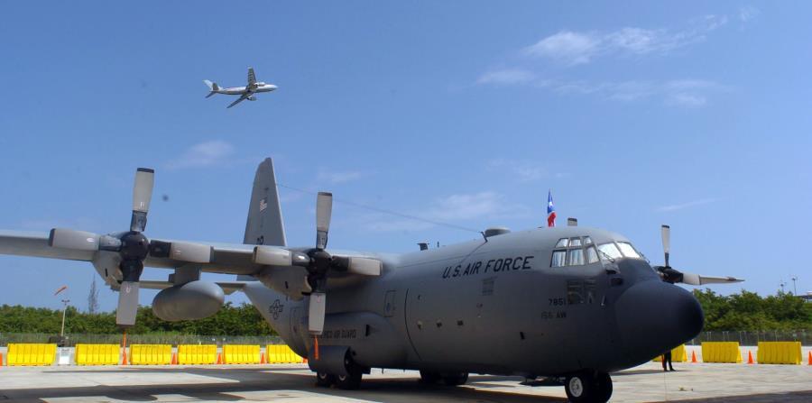 El modelo WC-130J utilizado por la Fuerza Aérea de los Estados Unidos para cazar huracanes