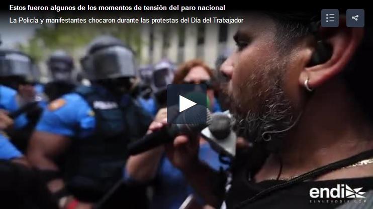 manifestacion marcha paro en Puerto Rico