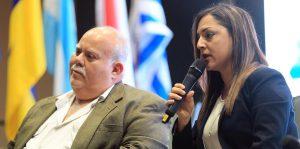profesor Jose Molinelli secretaria del DRNA Tania Vazquez