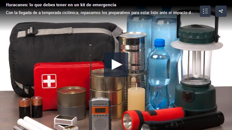 kit de emergencia huracanes