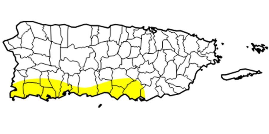 leve sequia en Puerto Rico