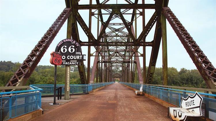 puente Rocks de la Ruta 66 en San Luis Misuri