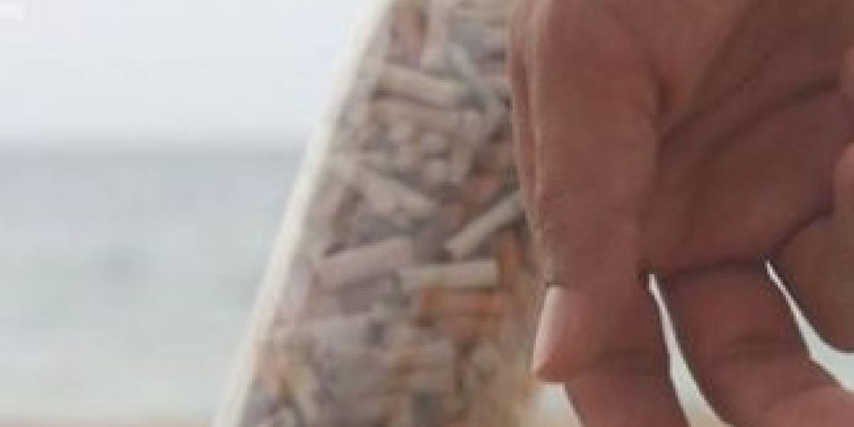 colillas de cigarrillos
