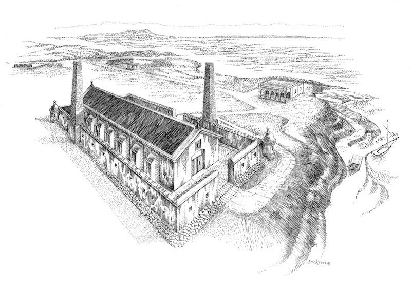 1780 Polvorin Miraflores Dibujo Erik Pérez