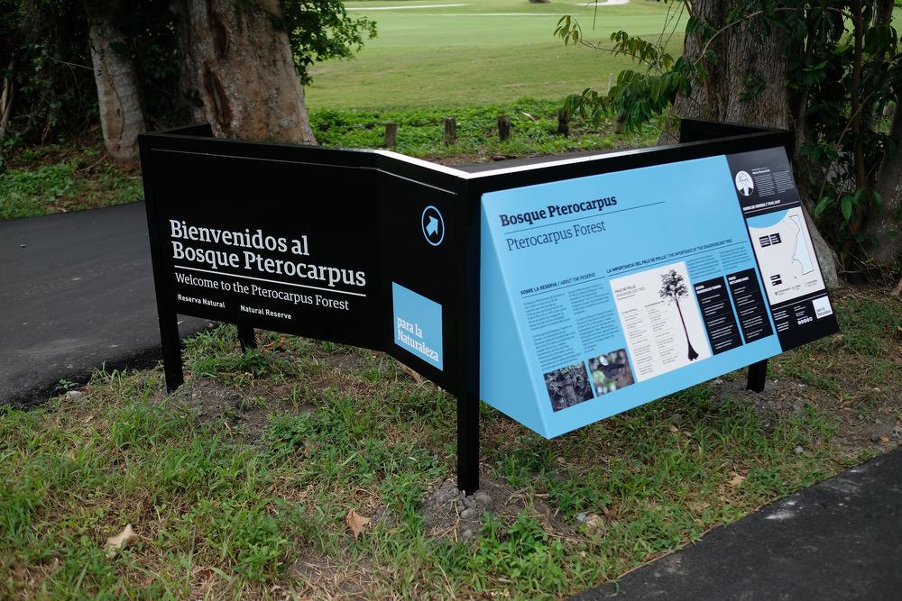 Inauguration de letreros en el Bosque de Pterocarpus de Dorado