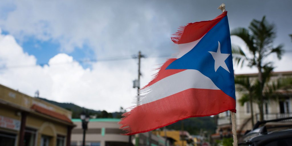 Help Puerto Rico flag