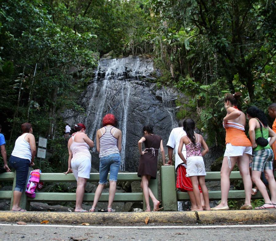 cascada la Coca en El Yunque
