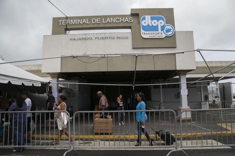 terminal del ferry en Vieques