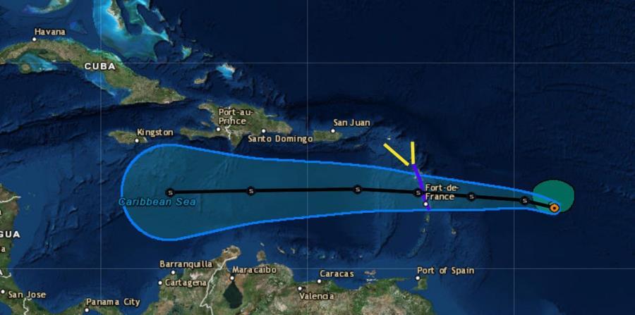 tormenta tropical Isaac trayectoria