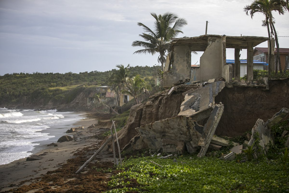 A home destroyed by Hurricane Maria in Puerto Rico