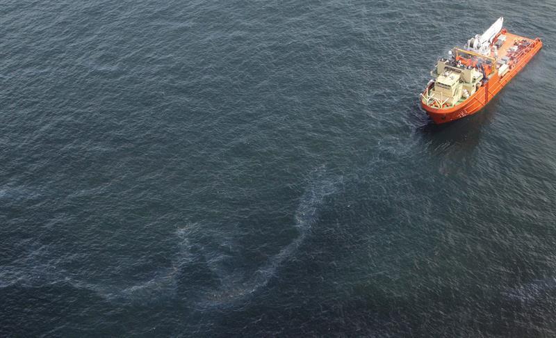 Derrame de petróleo en Golfo de México