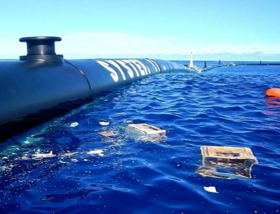 flotador proyecto para limpiar de plástico el océano Pacífico