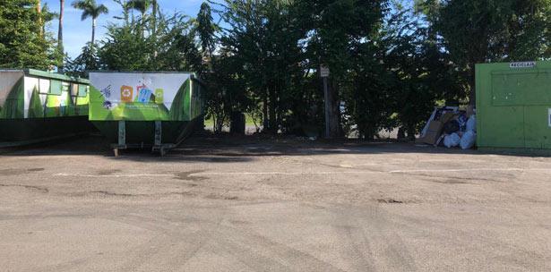 estacion de reciclaje del Parque Central