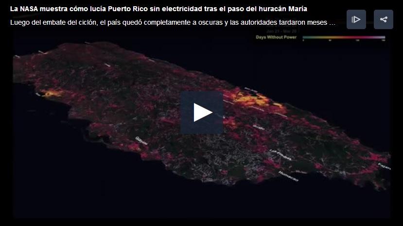 foto Puerto Rico sin electricidad