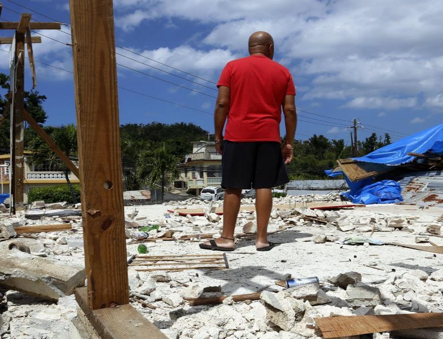 paso del huracan Maria
