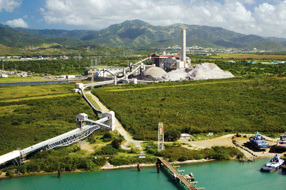 montana de cenizas de carbon de la empresa AES
