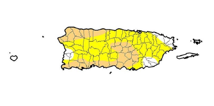 sequia moderada en Puerto Rico 2019