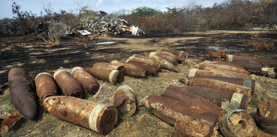 municiones recogidas por la Marina de Guerra estadounidense en Vieques