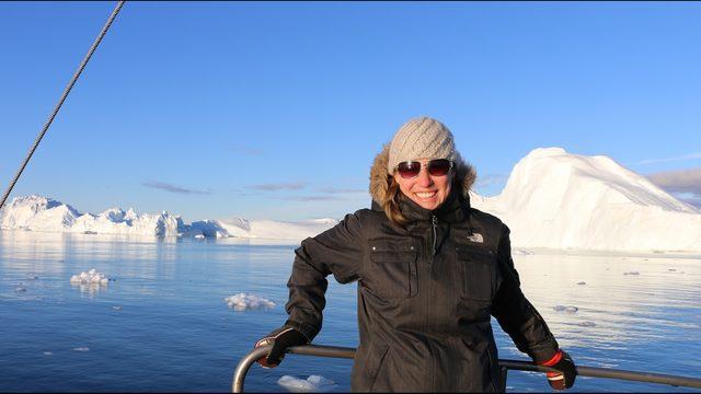 oceanografa Melania Guerra en el artico