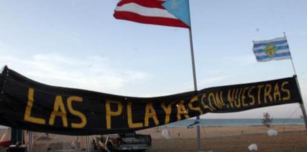 campamento playa isla Verde Puerto Rico