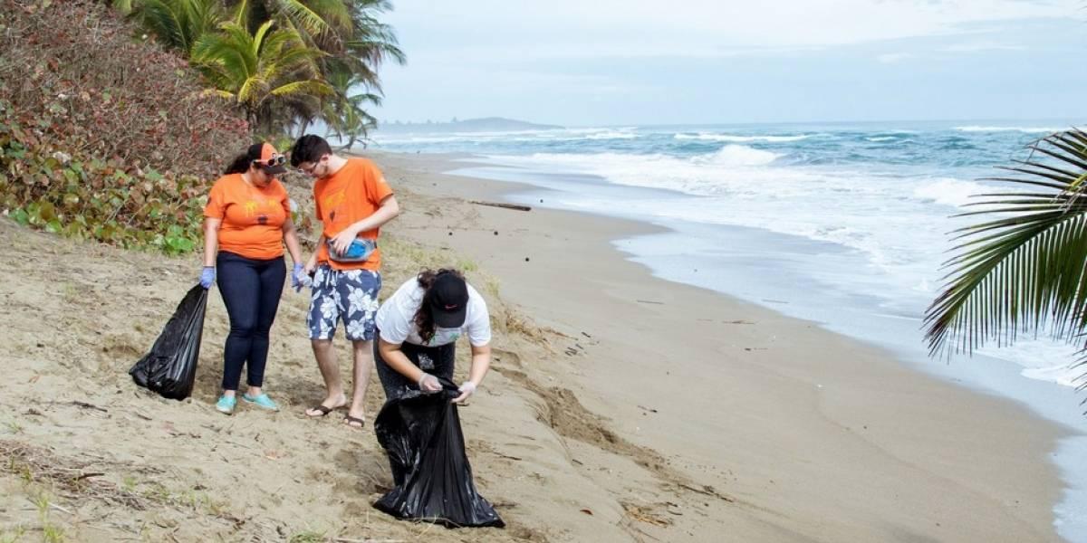 recoleccion de basura en la playa