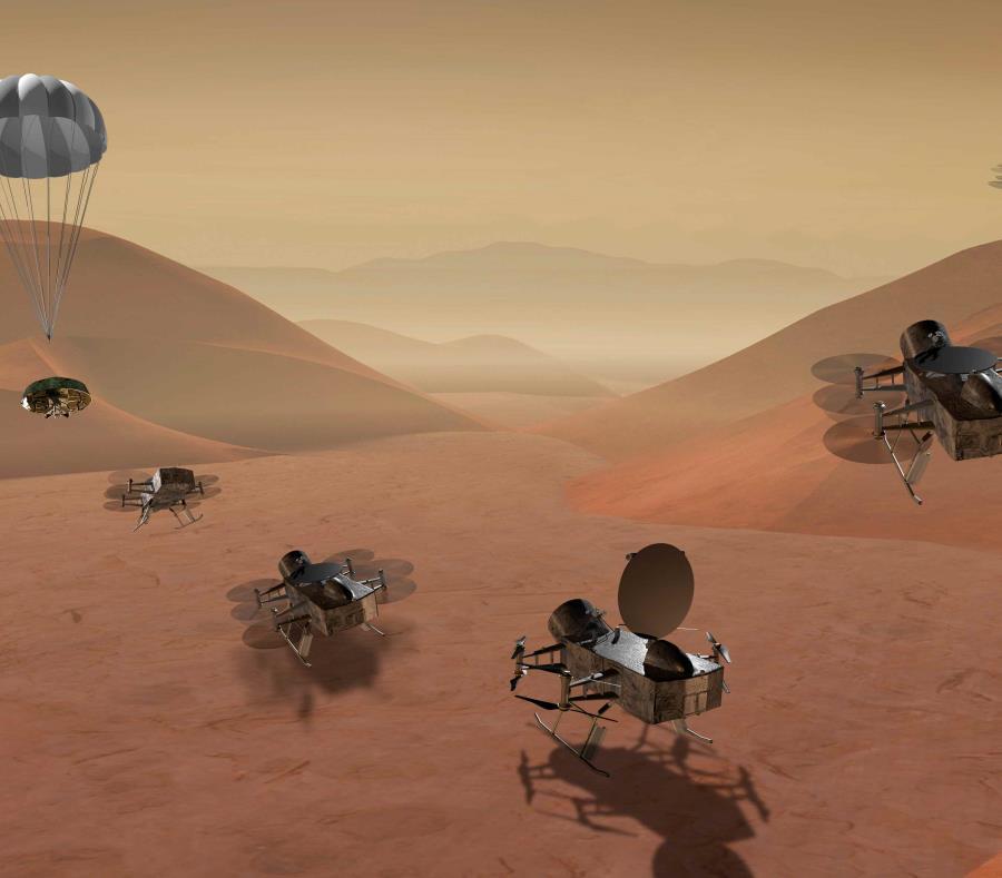 robot espacial a la luna de Saturno Titan