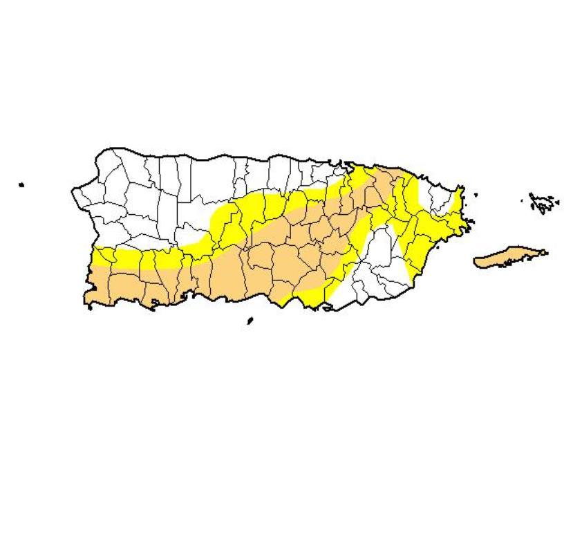 sequia moderada Puerto Rico