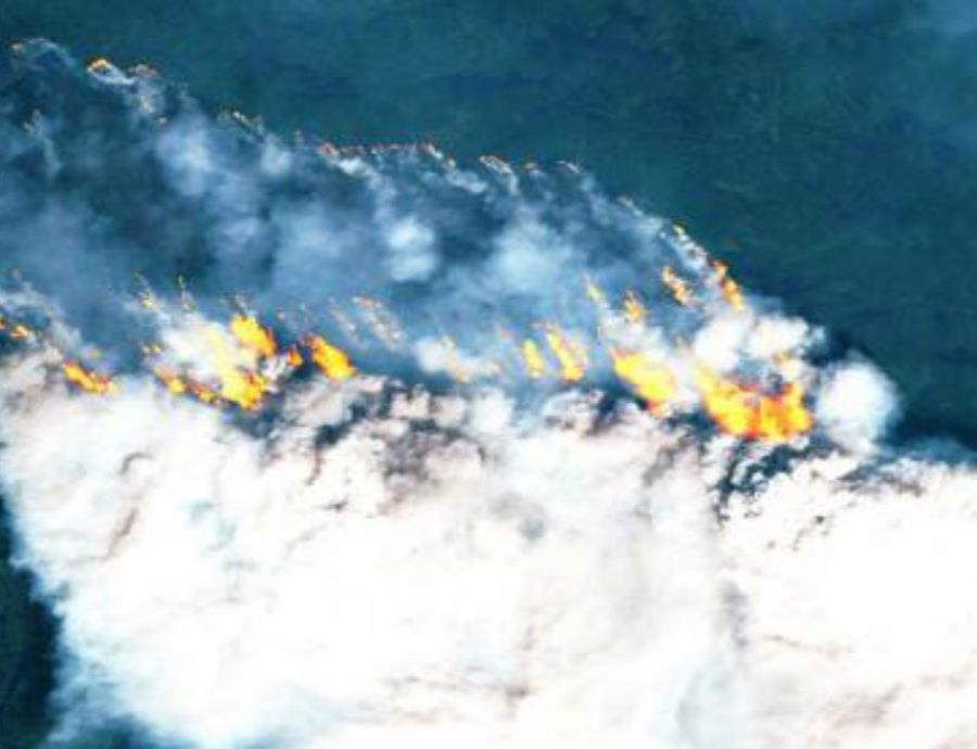 incendios incontrolados en el Artico