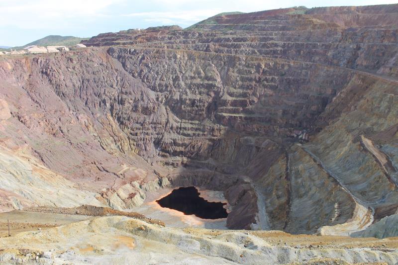 Mina de cobre a cielo abierto en Bisbee Arizona