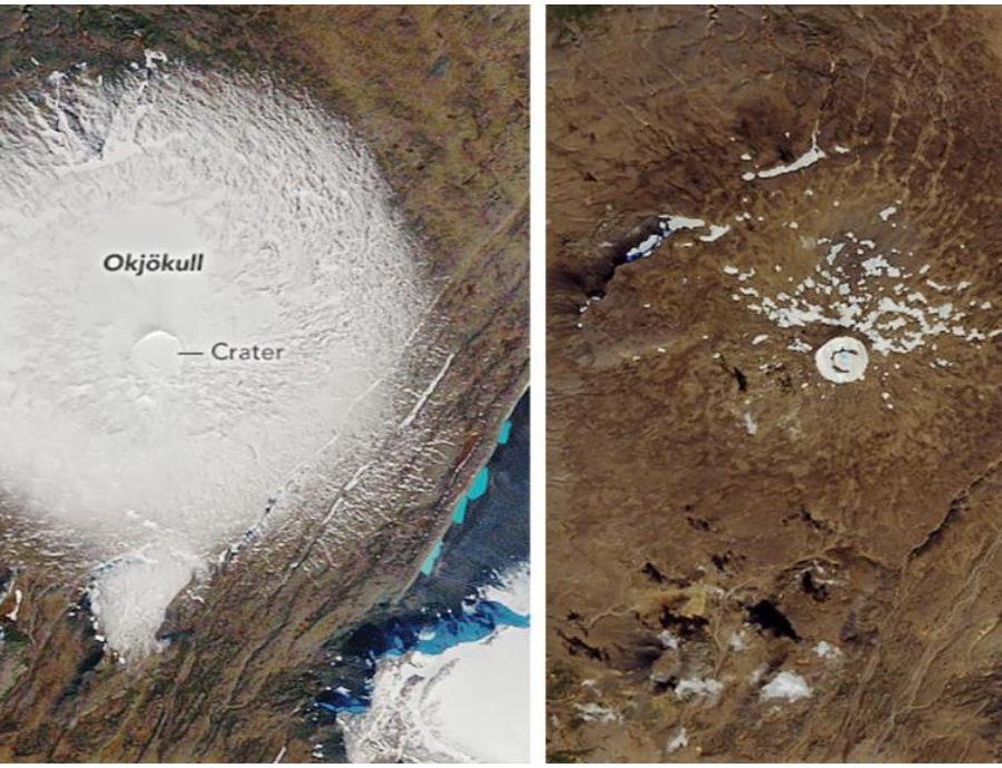 desaparicion de un glaciar en Islandia