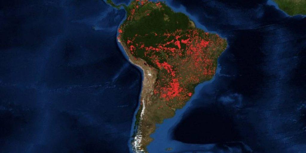 incendios forestales Amazonas America del Sur