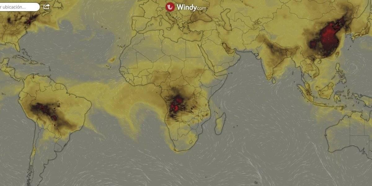 mapa de incendios en el mundo