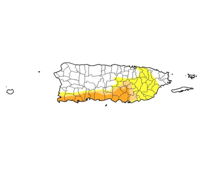 sequia severa en Puerto Rico