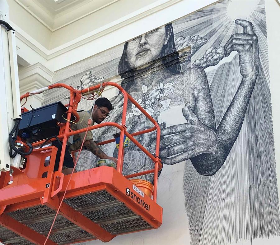 alexis diaz fachada muralista