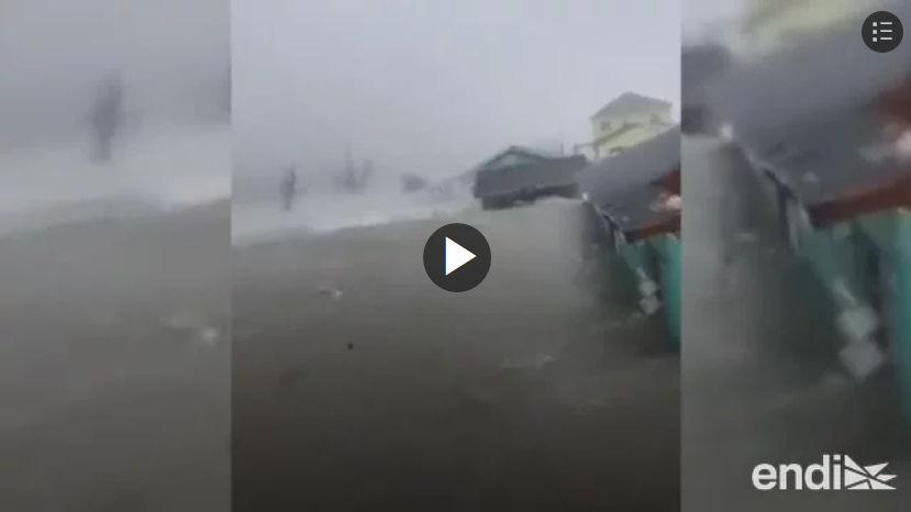 huracan Dorian entrada lado este de Gran Bahama