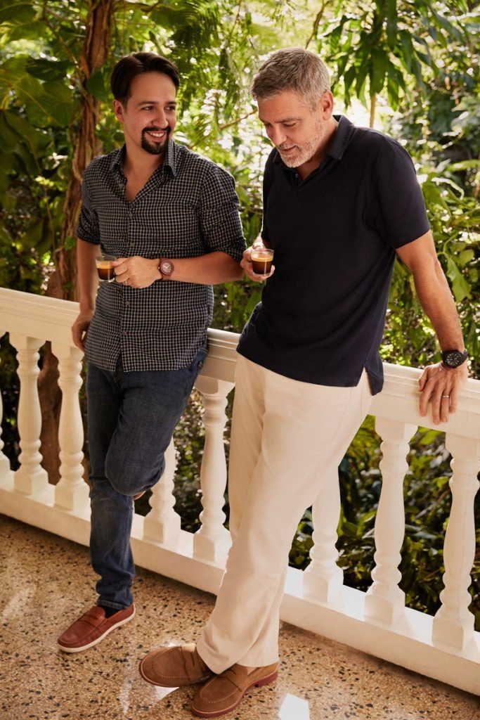 Actors Lin Manuel Miranda And George Clooney