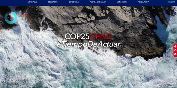Pagina Oficial De La Organizacion De La COP25 En Chile