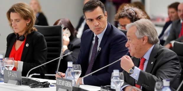 Mesa Redonda De Jefes De Estado Y De Gobierno En La COP25 En Madrid