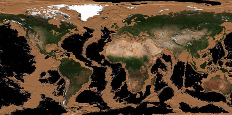 Superficie De La Tierra Sin Agua