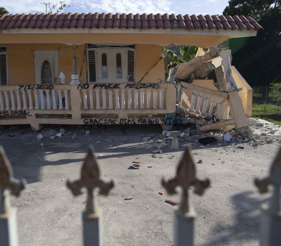 Residencia Afectada Terremoto 7 Enero Puerto Rico