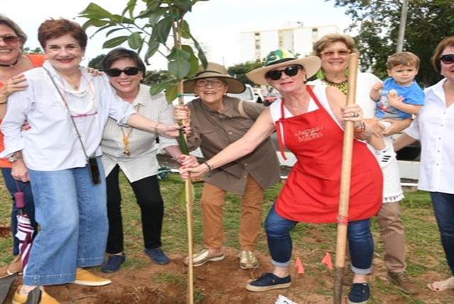 Exalumnas Del Colegio De Las Madres Plantan Arboles De Ausubos En La USC