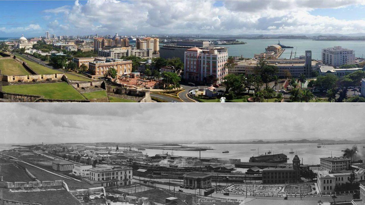 Vista Panoramica De La Isleta De San Juan Puerto Rico