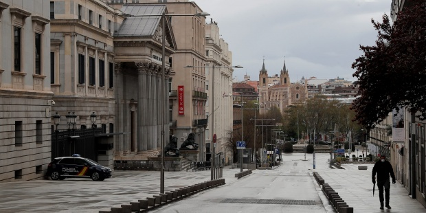 Inmediaciones Del Congreso De Los Diputados Espana